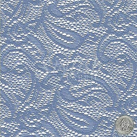 Amazon Slate Blue Paisley Crochet Lace Fabric By The Yard 1 Yard