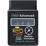 Eonon 2020 V0056 OBD2 OBDII Diagnostic Scanner Bluetooth Scan Tool Adapter ELM327 Head Unit with Android 4.4 to 10…