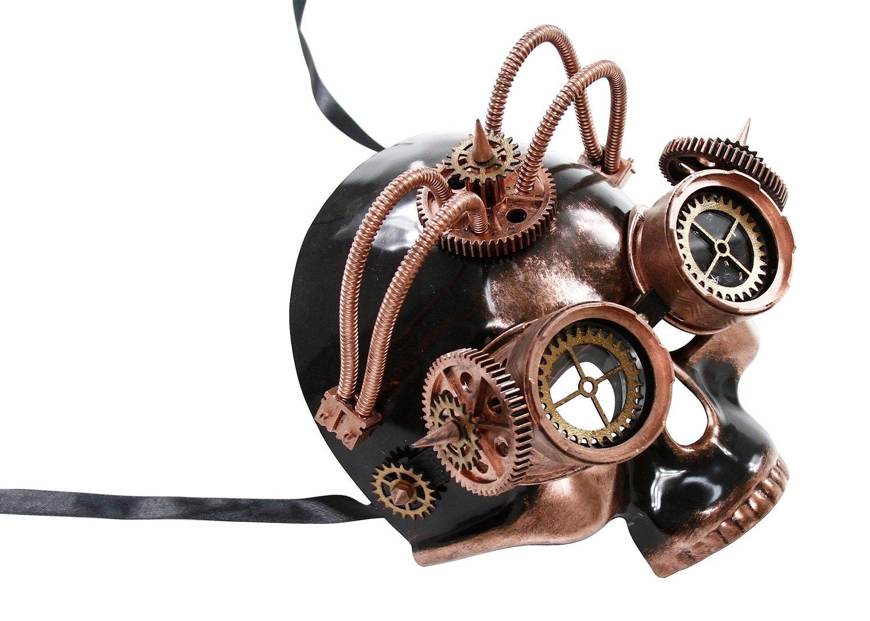 KAYSO INC The Astronomer II Steampunk Full Face Venetian Masquerade Mask (Vintage Bronze)