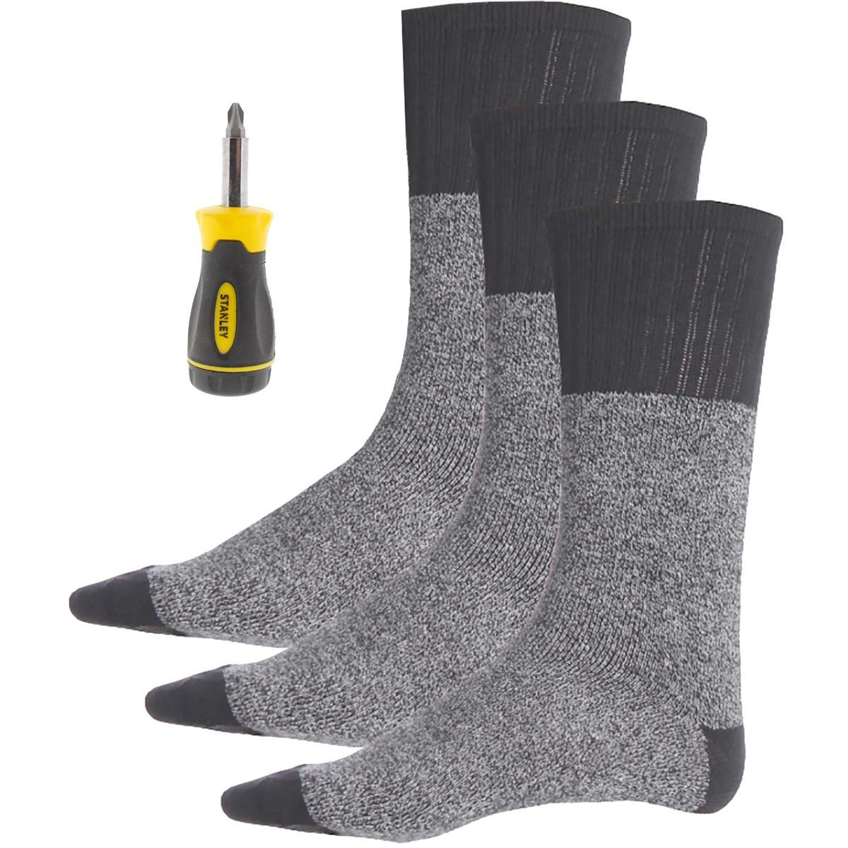 Stanley Mens 3 Pack Gift Set Thermal Socks Black 10-13 at Amazon Mens Clothing store: