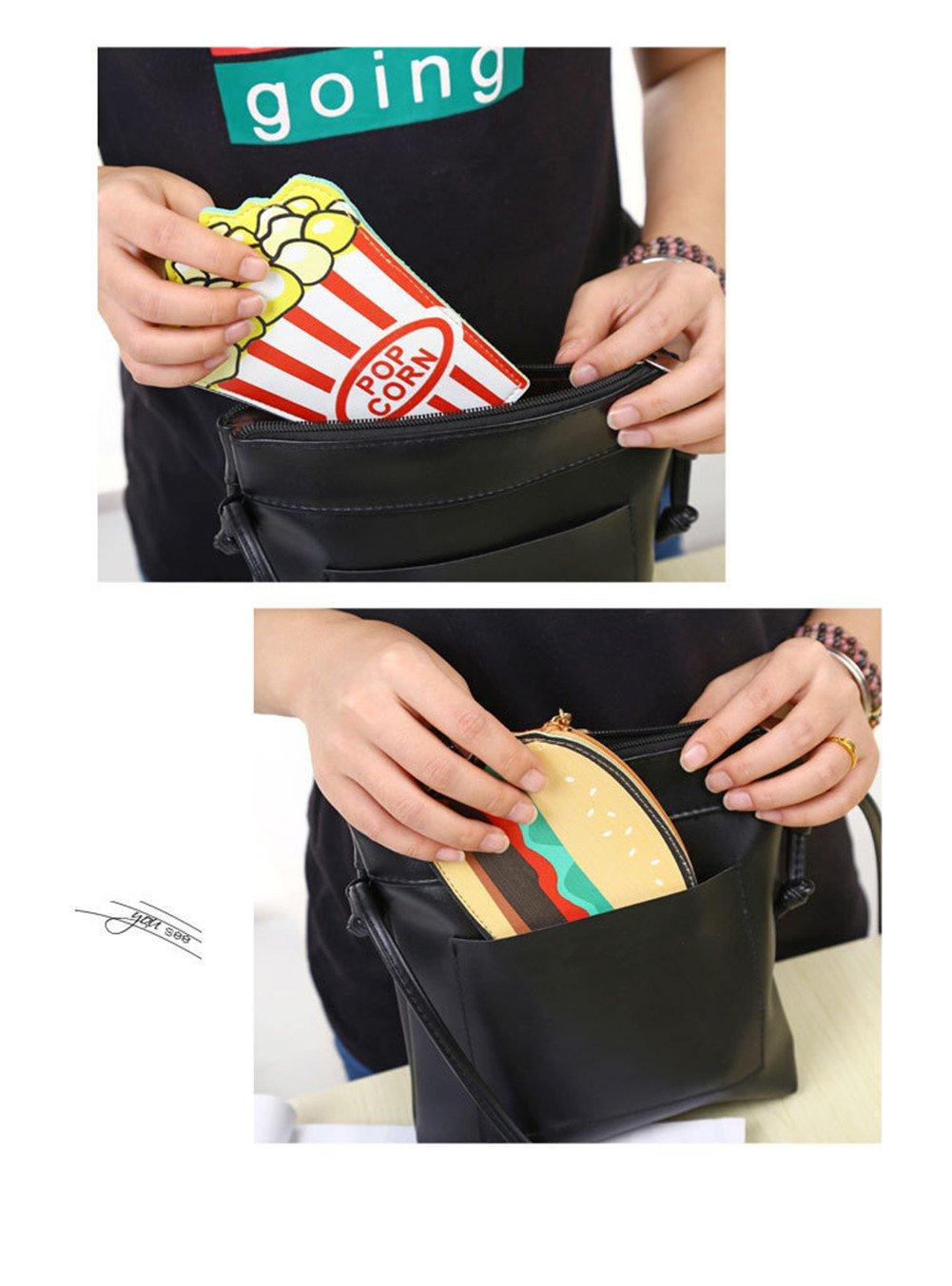 LAAT Faux Cuir Portable Porte-Monnaie Mignonne Dessin Anim/é Donuts en Forme Sac de Maquillage Cosm/étique avec Porte-Cl/és