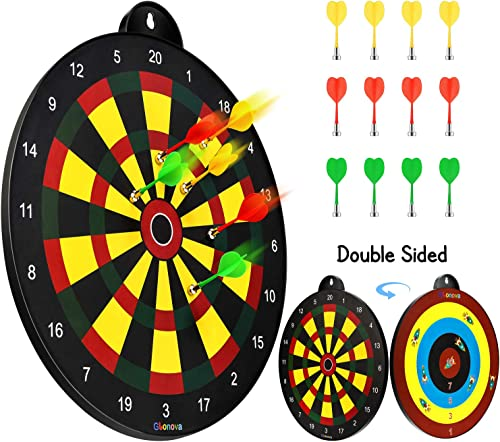 Glonova Reversible Magnetic Dart Board Double Sided