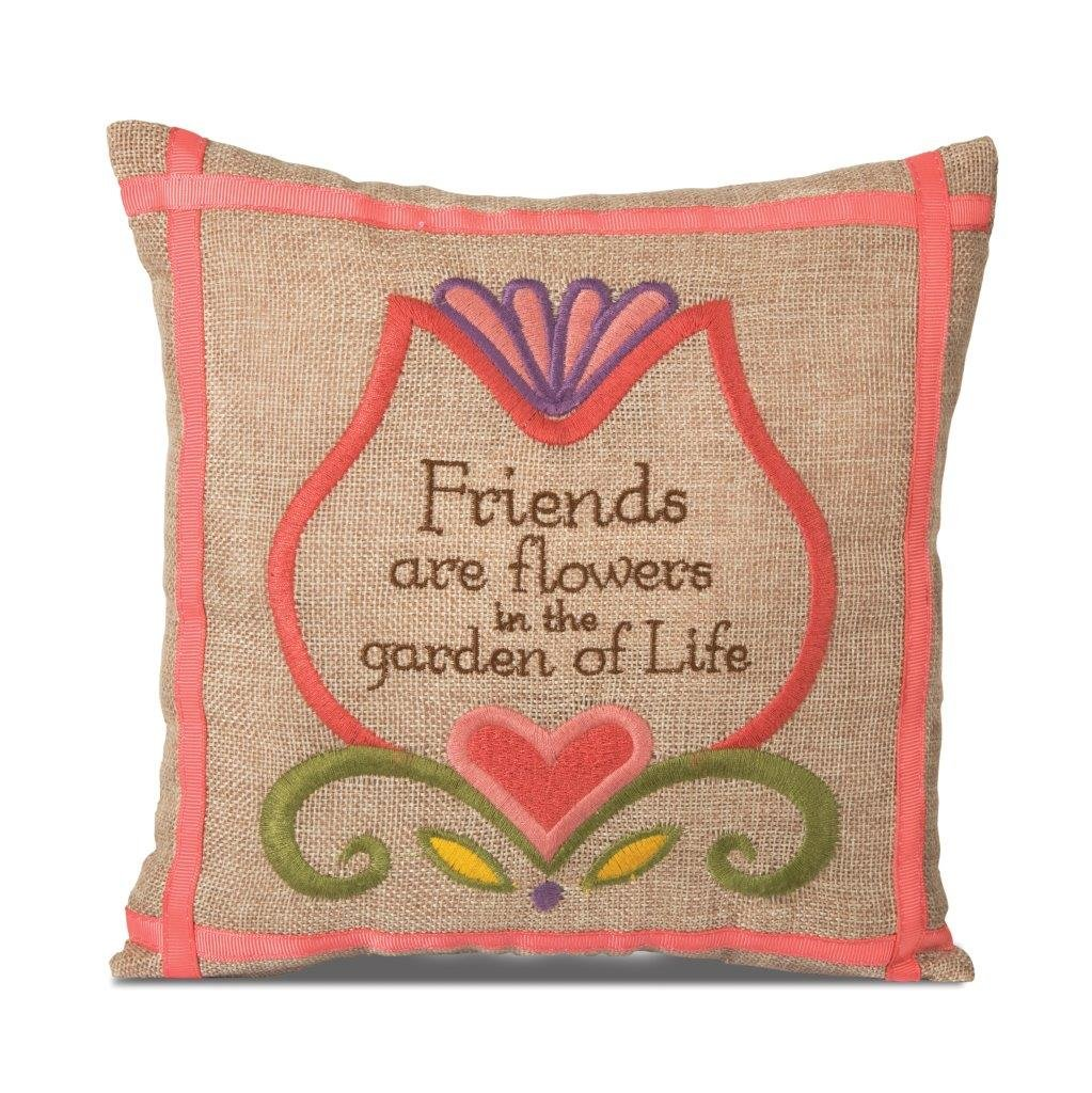 10-Inch Friends Pavilion Gift Company Country Soul 29034 Square Pillow