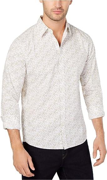 Michael Kors - Camisa para hombre con estampado cuadrado ...