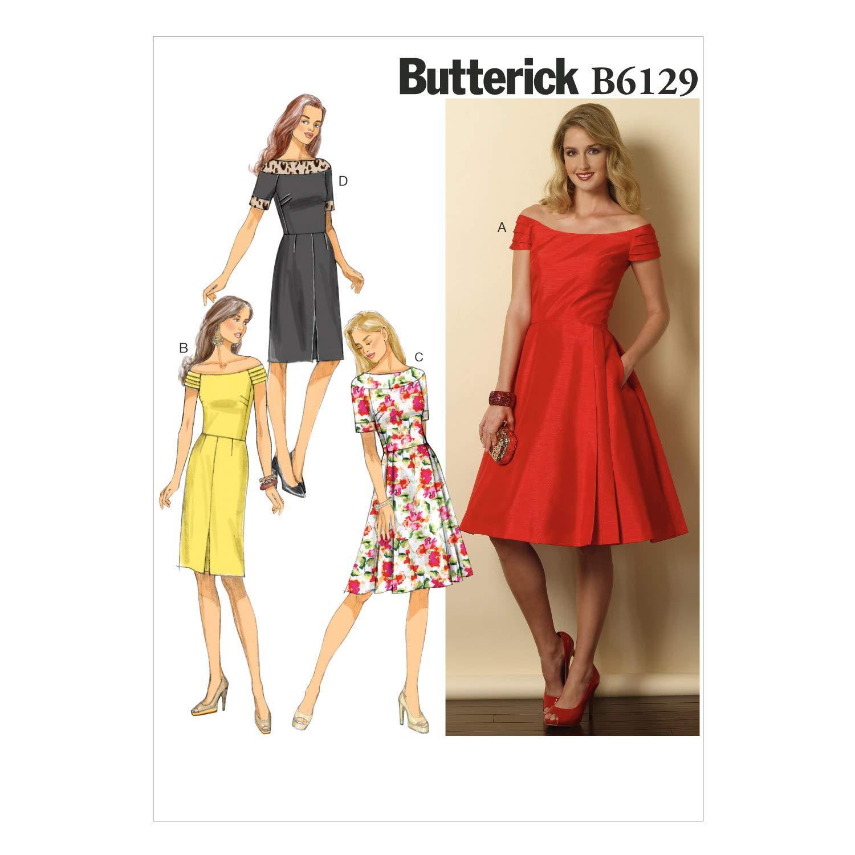 Vogue Patterns 6129 A5 - Cartamodello per abiti da donna, taglie varie dalla 38 alla 46 The McCall Pattern Company B6129A50