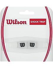 Wilson Logo-Vibrationsdämpfer für Tennisschläger, Shock Trap, Transparent/schwarz, WRZ537000