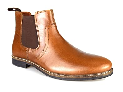 9ded286d7d1 Red Tape Newton Tan Leather Mens Formal Chelsea Boots: Amazon.co.uk ...
