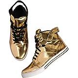 Kanoor Men's Golden Color Long Shoes/Boot
