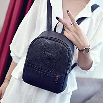 Amazon.com | Girls Small Leather Casual Backpack Travel University Bags for Women By TOPUNDER A | Casual Daypacks