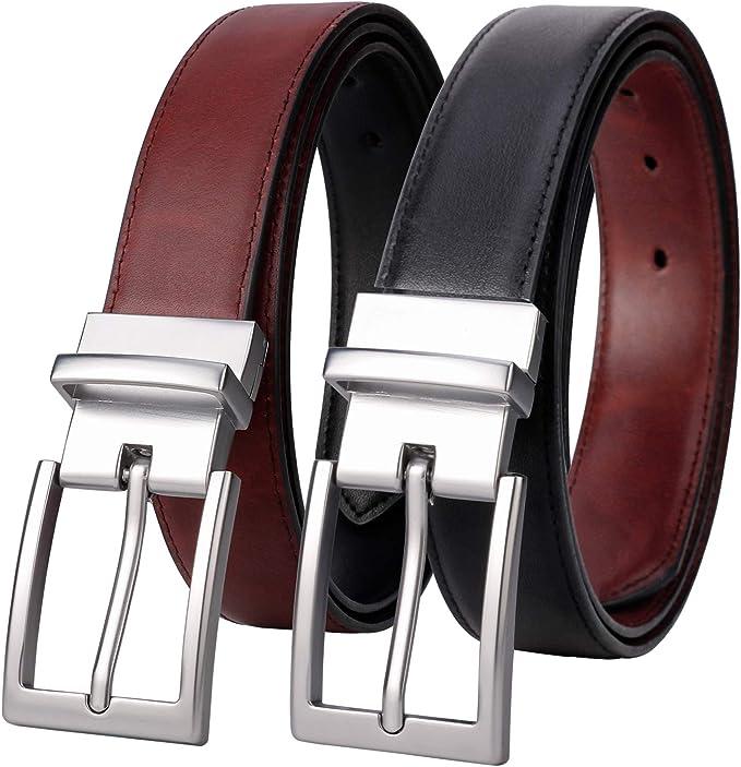 Fashion Men/'s Cool Best Italian Design  Waist Strap Leather  Smooth Buckle Belt