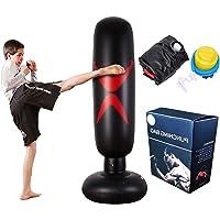 Saco de Boxeo autoestable de pie - Bolsas Perforadas for Trabajo Pesado con portaobjetos/Maniquí excelente for Boxeo…