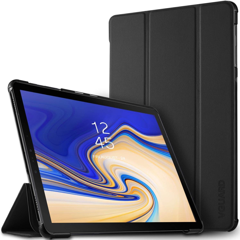 VGUARD Funda para Samsung Galaxy Tab S4 10.5 Pulgadas (T830 / T835), Carcasa con Soporte Función, Auto-Sueño/Estela, Ultra Slim Case Smart Cover Funda Protectora de Cuero PU - Negro