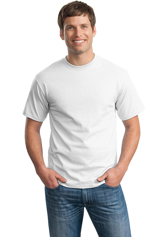 Hanes Ultimate Tagless Double-Needle Crewneck T-Shirt