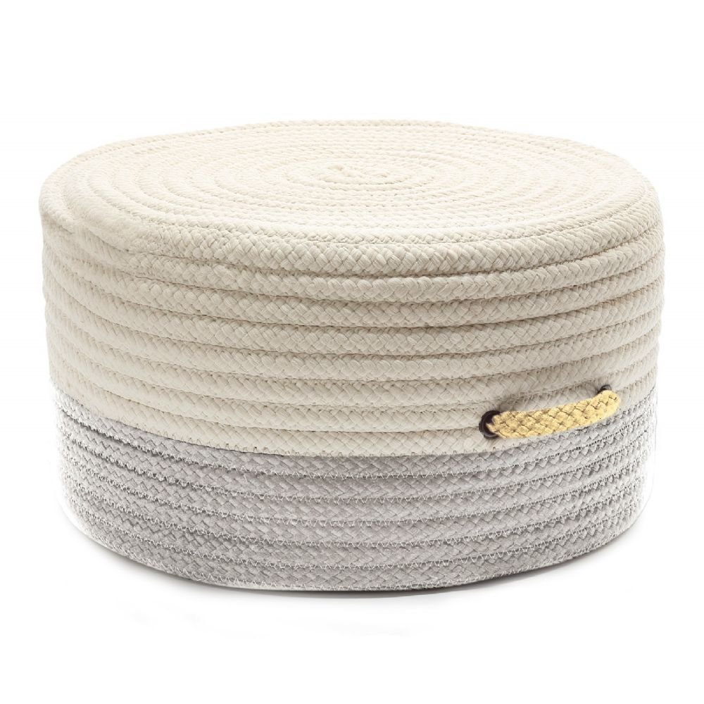Colonial Mills Braided Round pouf/ottoman 20''x20''x11'' in Shadow Color From Color Block Pouf Collection