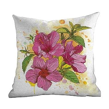 Amazon.com: Fundas de almohada para sofá, diseño floral ...