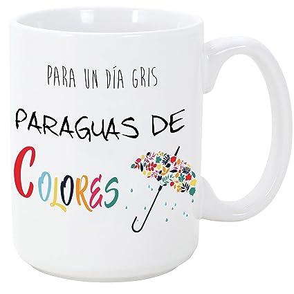 Taza original - Para un día gris, paraguas de colores - 350 ml - Tazas