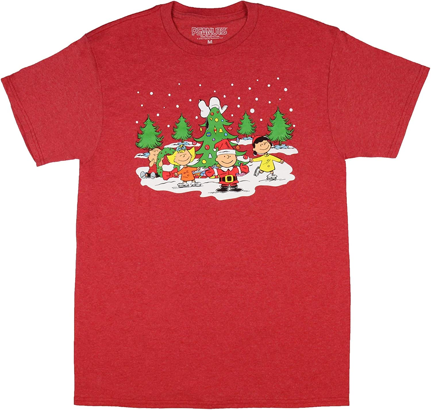 Peanuts Men's A Charlie Brown Christmas Snoopy Winter Holiday Fun T-Shirt