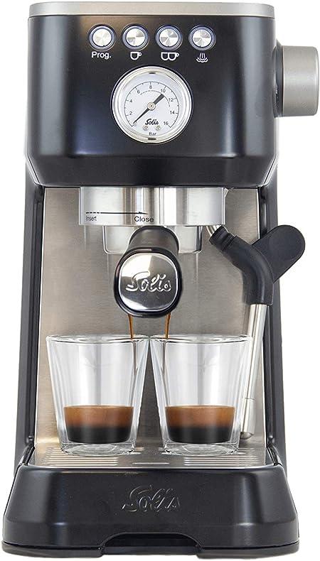 Solis Barista Perfetta Plus 1170 - Cafetera expresso automática - 15 bar - 1,7 L - 1 o 2 tazas - Máquina de café expreso - Acero inoxidable - Negra: Amazon.es: Hogar