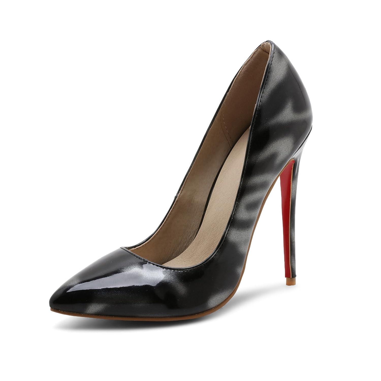 05d1de491f069 QIN&X Damen Stiletto High Heels Spitzen toe Pumps Schuhe 46 EU ...