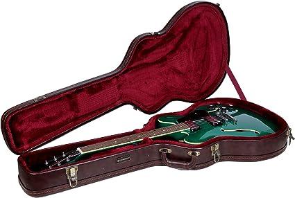 Crossrock 335 - Funda para guitarra eléctrica semihueca, color plateado: Amazon.es: Instrumentos musicales