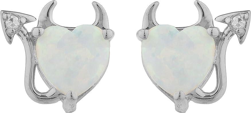 white heart genuine opal earrings diamond solid silver natural opal heart halo earrings diamond halo heart opal earring black gold