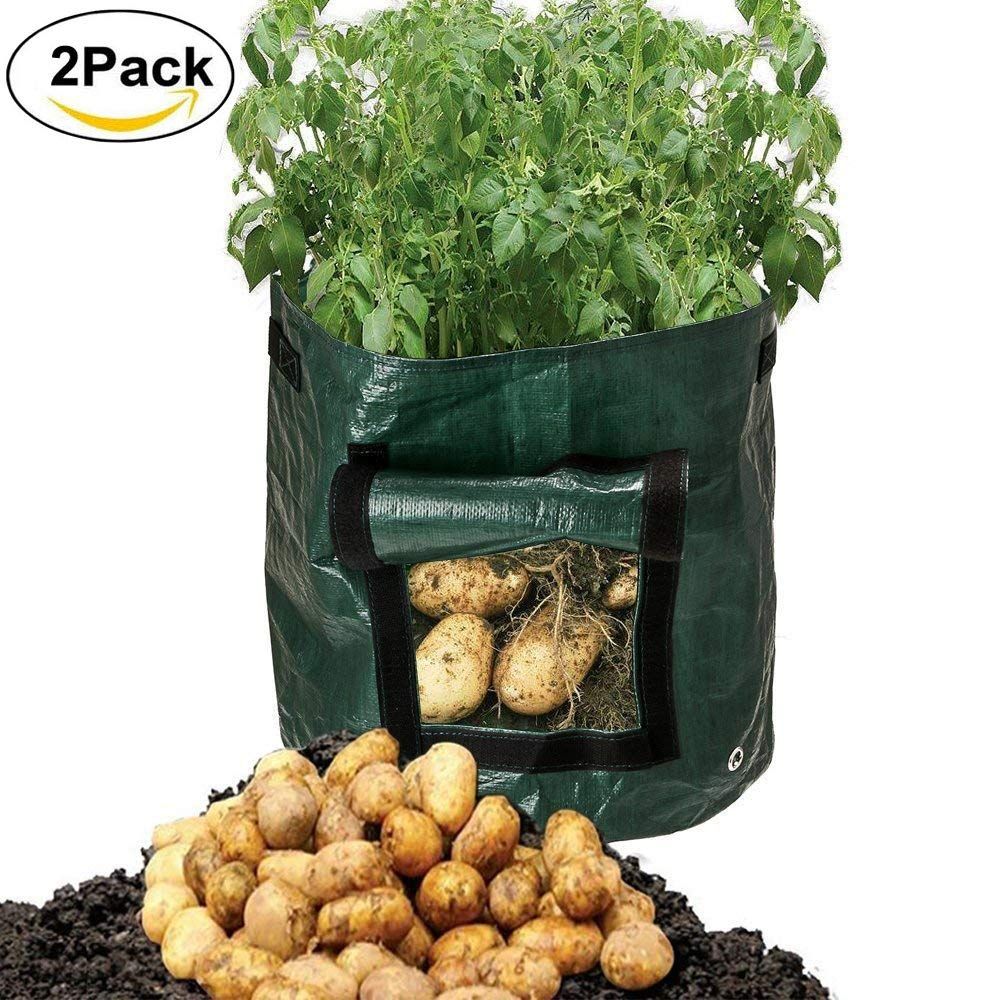 Mofvg Grow Bags, Raised Garden Bed Plant Containers Fabric Pots Planter Bag from