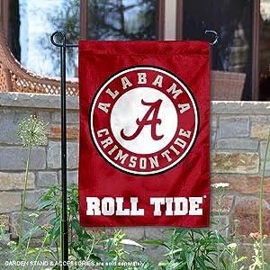 College Flags and Banners Co. Alabama Crimson Tide Circle Logo Garden Flag