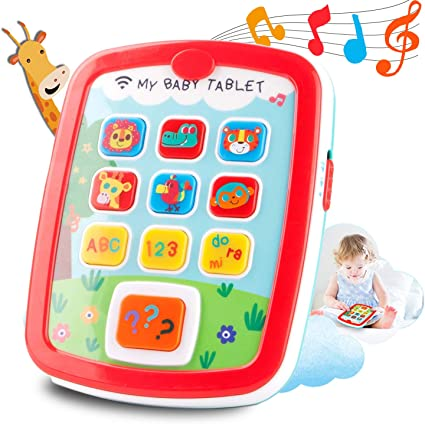 Amazon Com Histoye Baby Learning Toys Tablets For 1 Year Old Toddlers Educational Toys Learn To Talk Electronic Learning Pad For 1 2 Years Old Abc 123 Sounds And Lights Smart Tablet For