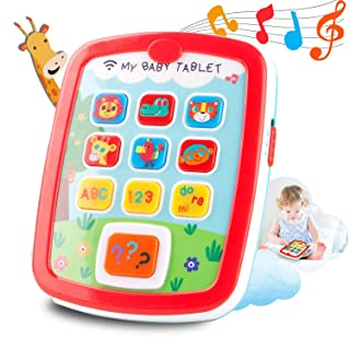 HISTOYE Baby Learning Toys Tablets for 1 + Year Old,Toddlers Educational Toys Learn to Talk, Electronic Learning Pad for 1 2 Years Old, ABC, 123, Sounds and Lights Smart Tablet for Toddlers