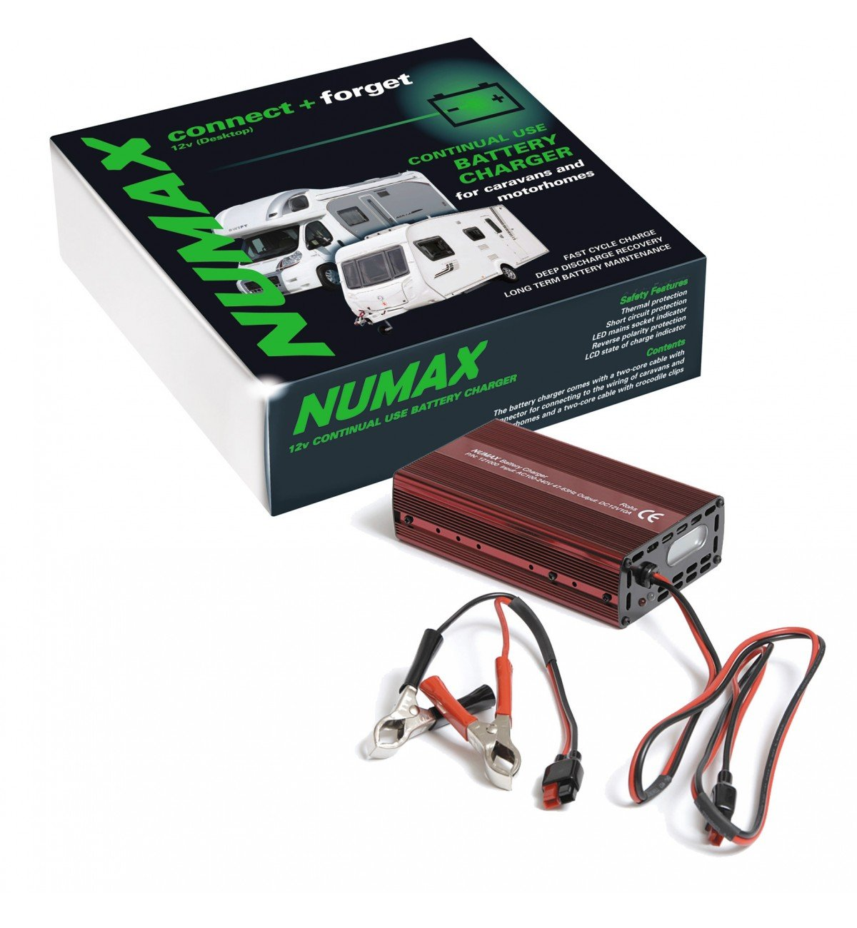 Numax 12v 10a Leisure Battery Charger Caravan Motorhome Marine Level Indicator Circuit Boat Mower Computers Accessories