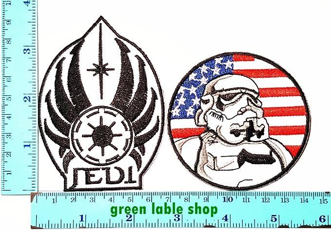 Star Wars Stormtrooper Imperial película de bandera de Estados Unidos parche Logo coser hierro en bordados apliques Badge Sign disfraz: Amazon.es: Deportes y aire libre