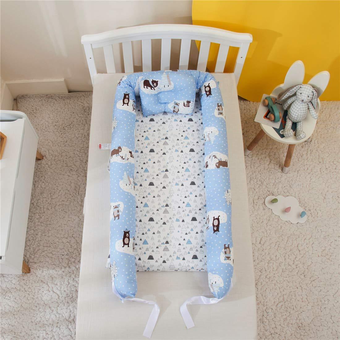 DorkasDE Babynest Kuschelnest Matratze im Bett Faltbett Babybett Reisebett