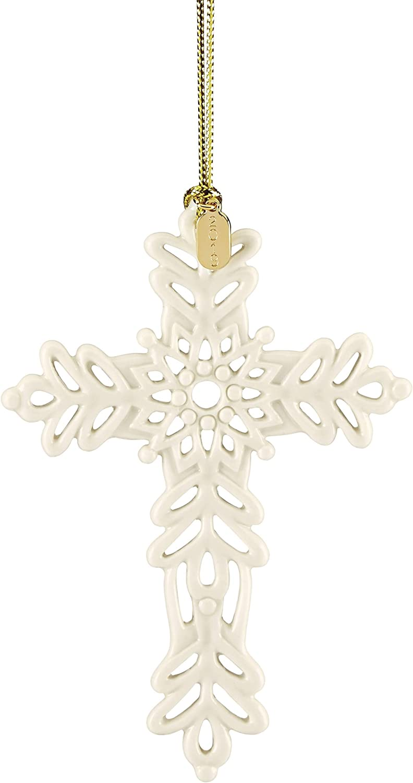 Lenox 884553 2019 Snow Fantasies Cross Ornament
