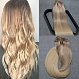 120g 100% Remy Human Hair Double Weft Clip in Hair Extensions Grade 8A Quality Full Head Thick Long Soft Silky Straight 7pcs 17clips for Women Fashion
