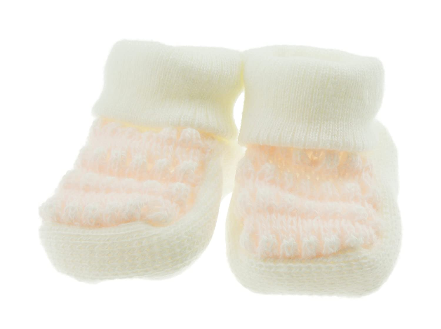 Cute Soft Cable Knit Newborn Baby Boys Girls Booties Socks Pink ...
