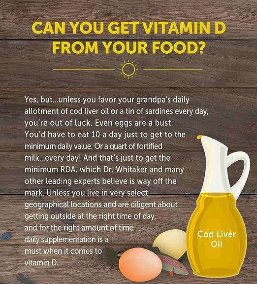 Amazon.com: Dr. Whitakers BeyonD3 - Vitamin D Supplement with Boron, Vitamin K2, Magnesium & Zinc - Supports Immune Health, Calcium Metabolism & Bone ...