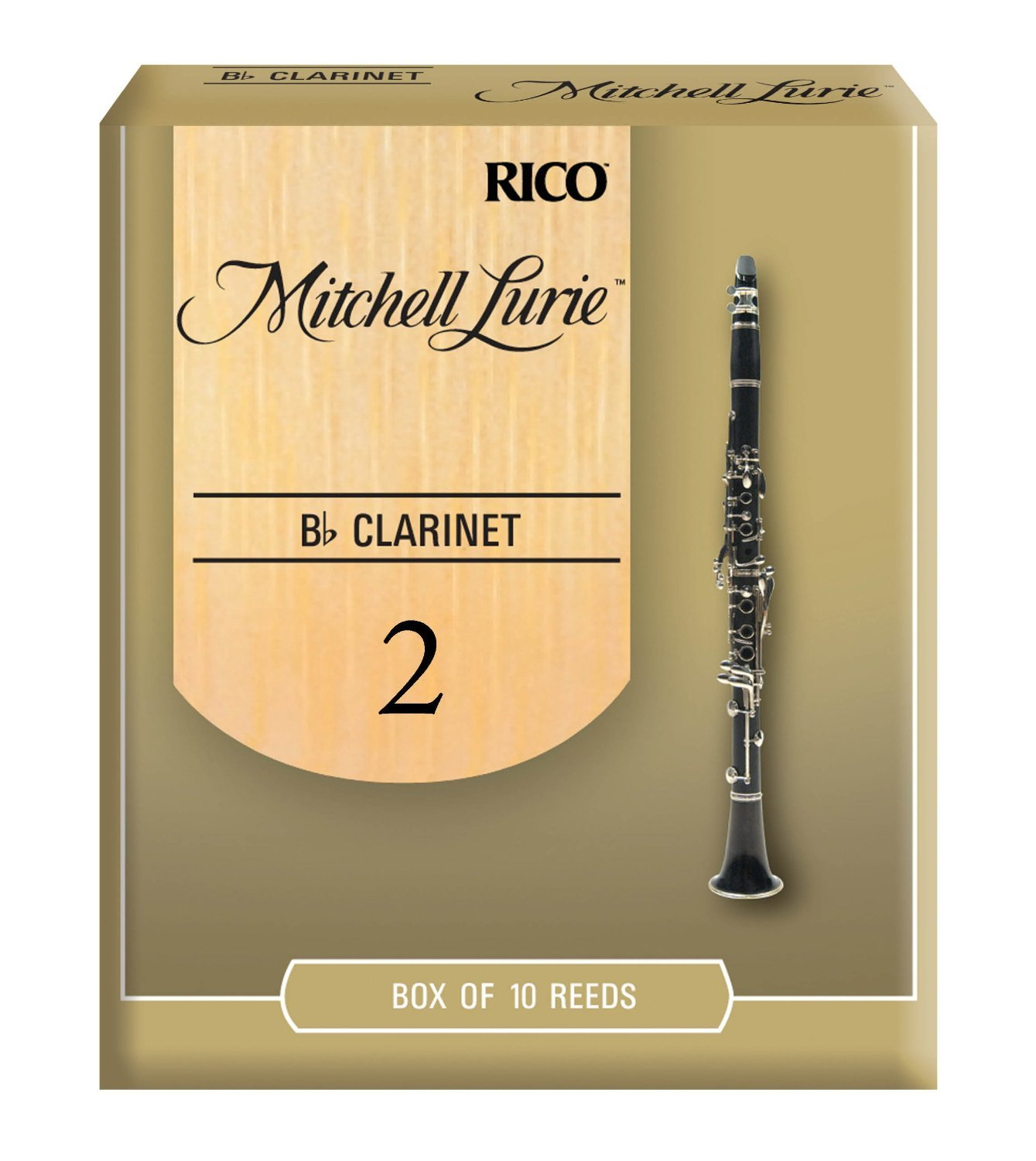 Mitchell Lurie Bb Clarinet Reeds, Strength 3.5, 10-pack Rico RML10BCL350
