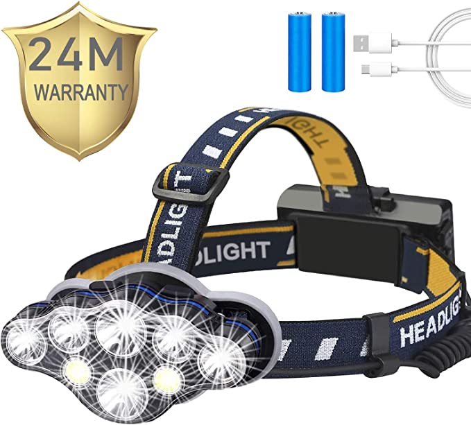 Details about  /NEW LED Headlamp USB Rechargeable Flashlight Waterproof Head Lamp Torch Camping