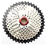 SUNRACE MS3 WIDE RATIO 10-SPEED---11-40T MTB MOUNTAIN SILVER BICYCLE CASSETTE