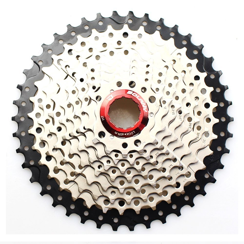 10 Speed Cassette 11-40T MTB Cassette 10 Speed Fit for Mountain Bike, Road Bicycle, MTB, BMX, SRAM, Shimano