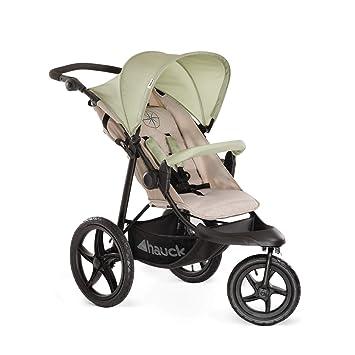 Hauck Runner - silla de paseo, silla running con 3 ruedas neumaticas, plegado compacto, ruedas XL con camara de aire, para recien nacidos, apto para ...