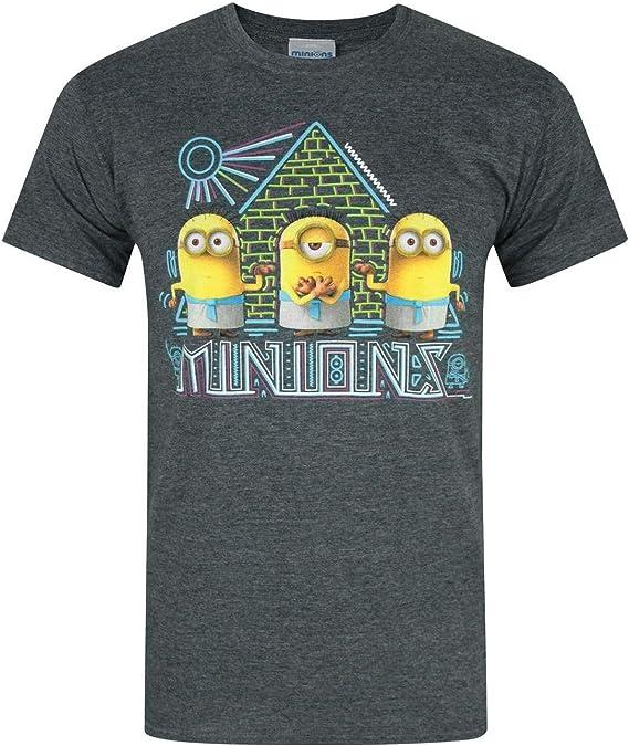 Minions - Camiseta Modelo Egipcio para Hombre (2XL/Carbón): Amazon.es: Ropa y accesorios