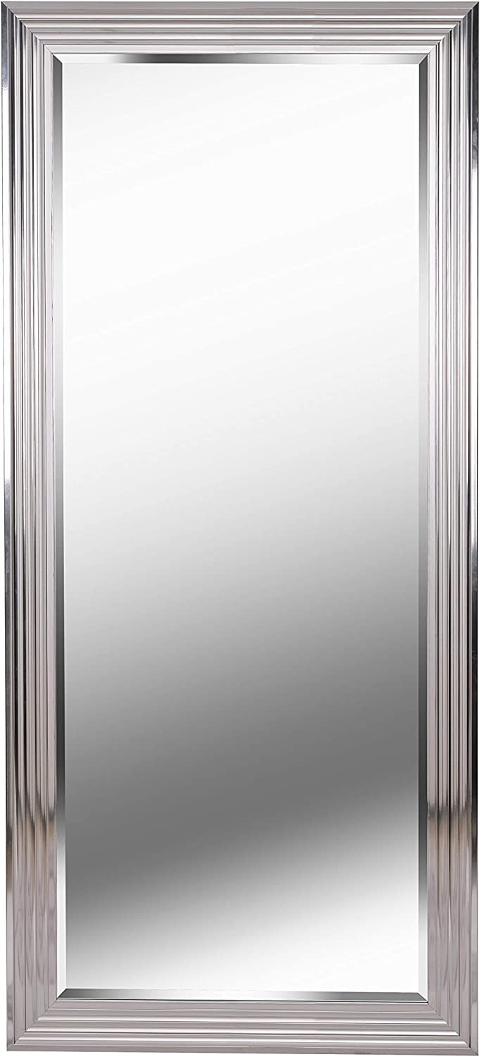 Kenroy Home Modern Tall Mirror ,66 Inch Height, 30 Inch Width, 1 Inch Ext with Chrome