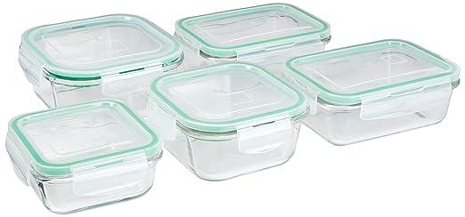 10 piezas cuadrado de cristal contenedor de almacenamiento de ...