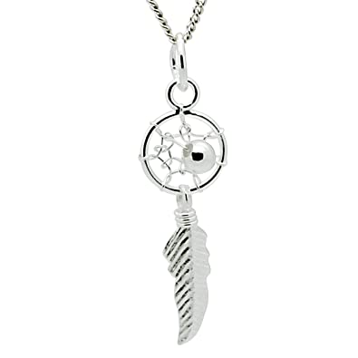 Sterling silver dreamcatcher pendant necklace 400mm amazon sterling silver dreamcatcher pendant necklace 400mm mozeypictures Choice Image