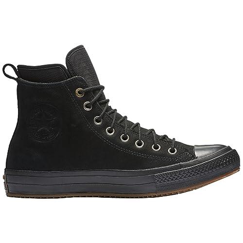 Converse Womens Chuck Taylor All Star Waterproof Boot Hi Black Nubuck Boots  36.5 EU