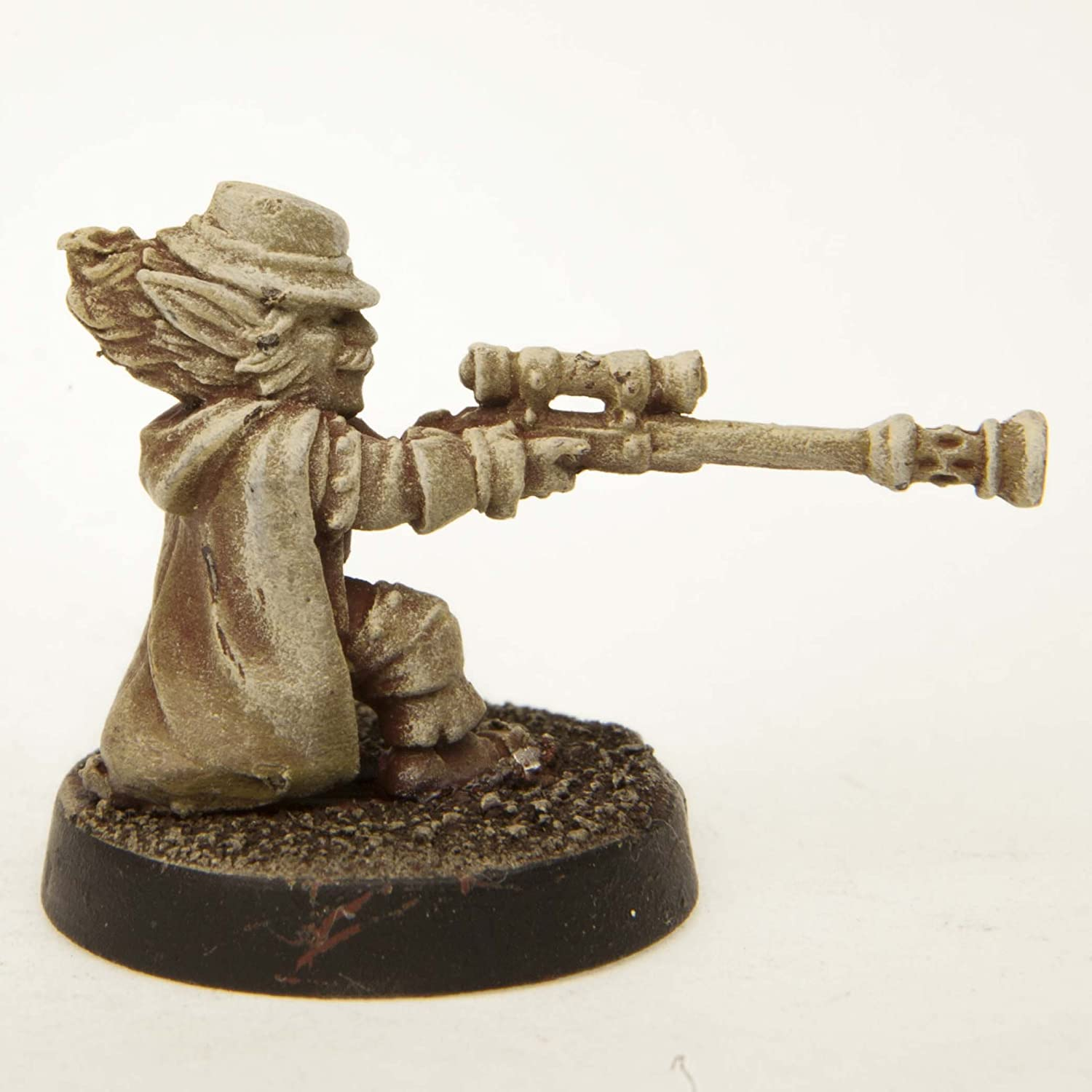 Stonehaven Gnome Long Gunner Male Miniature Figure Made in USA for 28mm Scale Table Top War Games