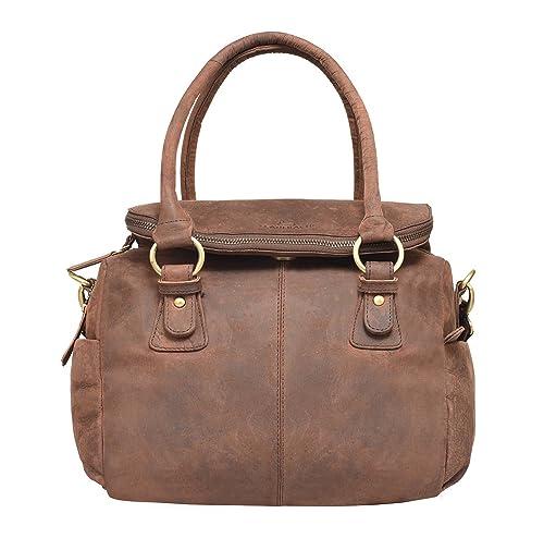 63ee7ab17250 LEADERACHI Women s Wax Hunter Leather Handbag (308701A