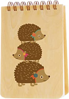 product image for Night Owl Paper Goods Stacked Hedgehog Wood Jotter