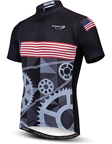 66ca0be8 Men's Cycling Jersey Short Sleeve Bike Clothing Multicolored Diamond